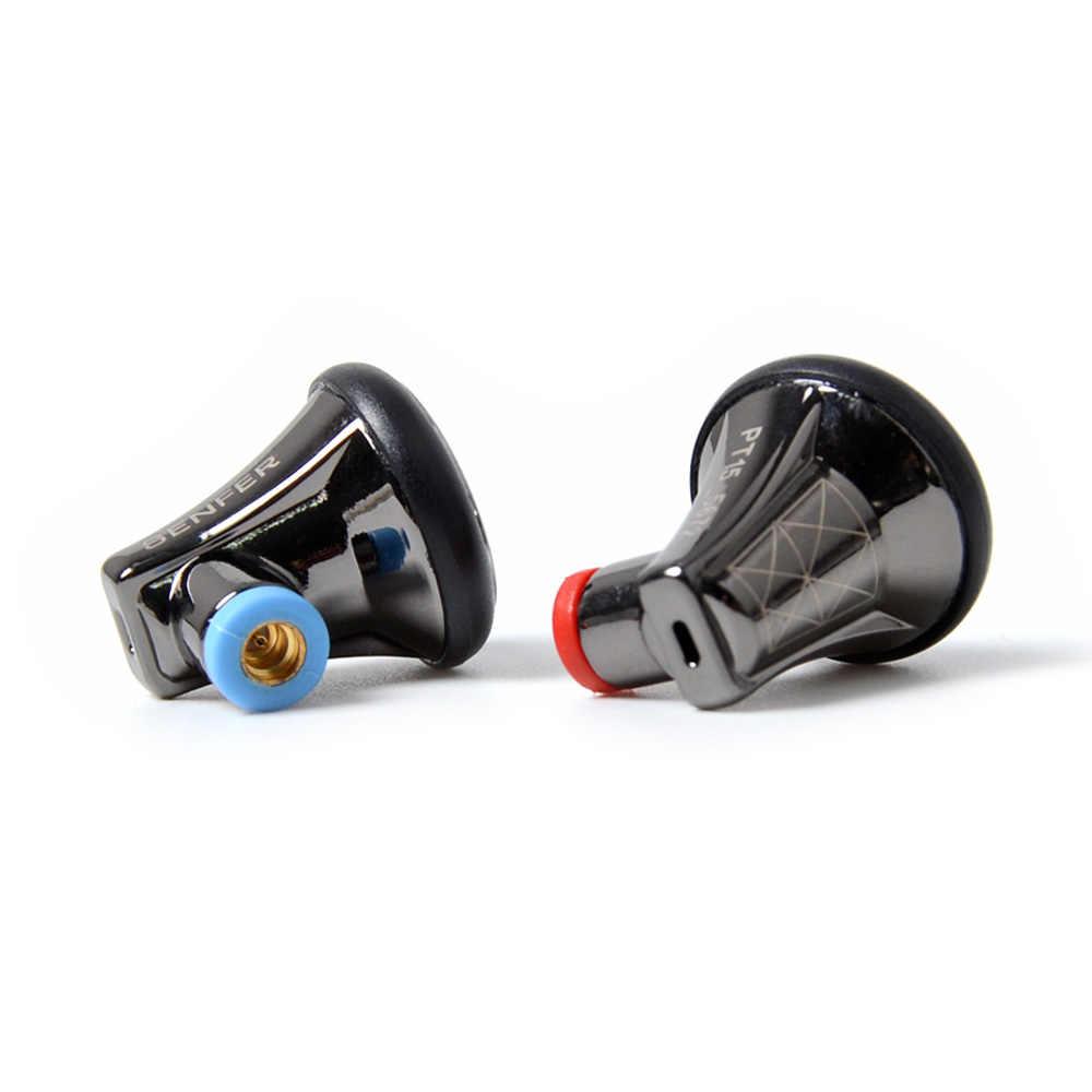 2019 SENFER (SFR) PT15 w ucho słuchawki Earburd grafen dynamiczny napęd HIFI zatyczki do uszu z MMCX odłączany kabel Metal Earbud