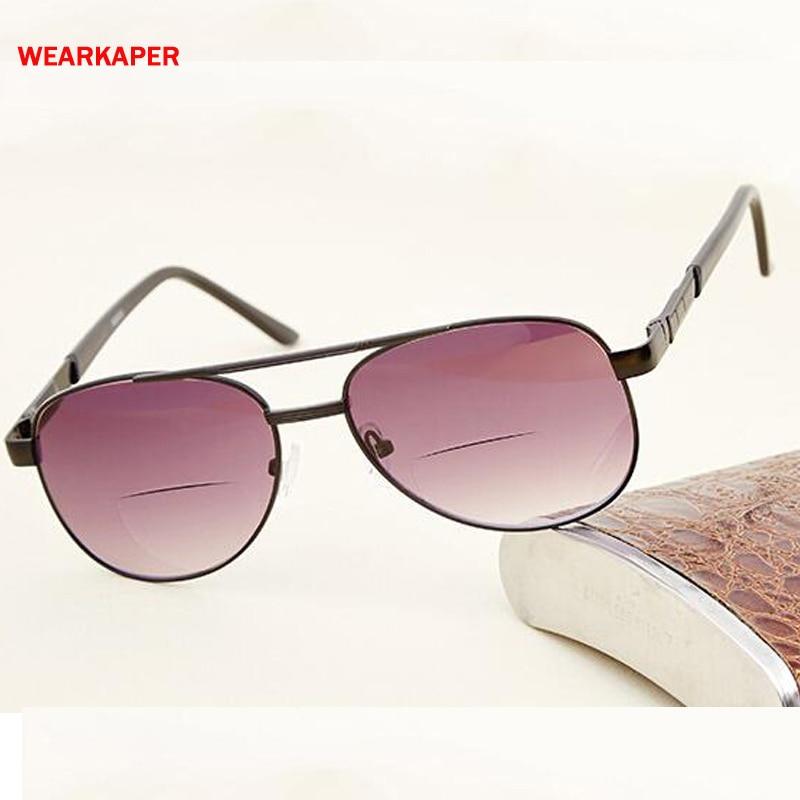 WEARKAPER Polarized Bifocal Reading glasses Men Women Sport Sun Glasses Dual use Presbyopia Glasses 1.0-4.0