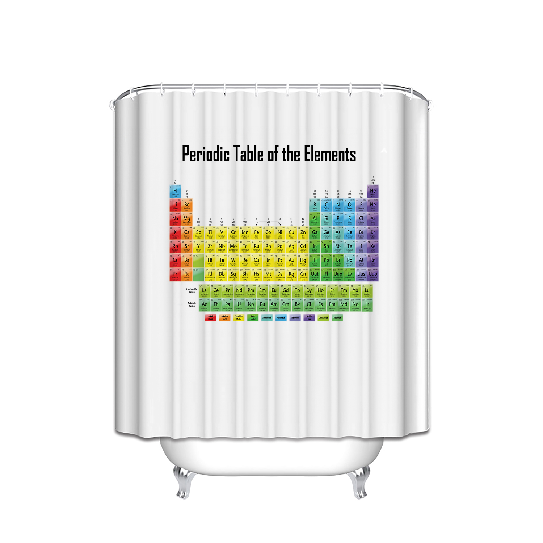 Tableau p riodique rideaux de douche promotion achetez des - Rideau de douche tableau periodique ...