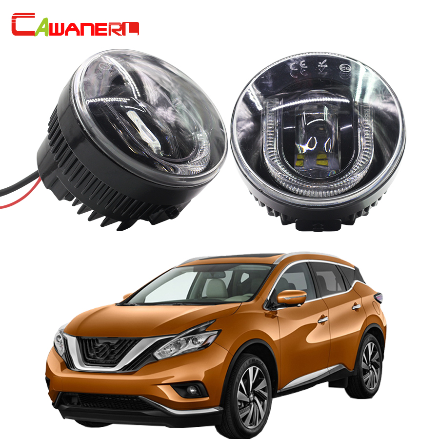 Cawanerl 2 pieces car accessories led fog light drl daytime running lamp for nissan murano z51
