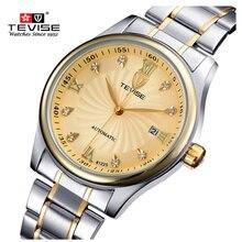Reloj de Los Hombres de Negocios de la Marca de lujo 100 m Impermeable Reloj de Cuero Masculino Diseñador de Relojes de Pulsera de Acero Inoxidable Reloj de Los Hombres relojes