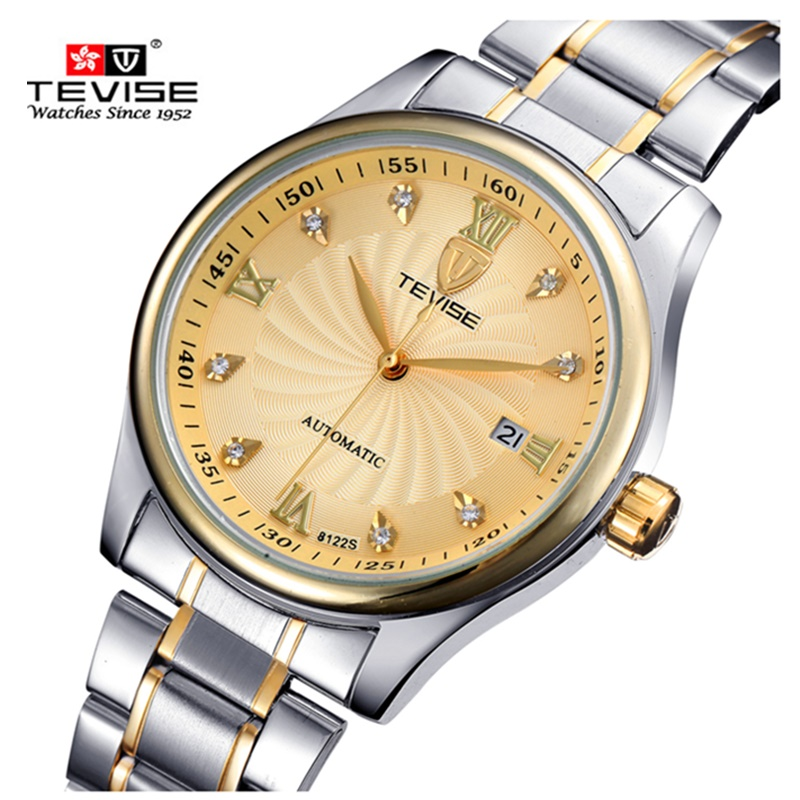 Men Watches Luxury Brand TEVISE Waterproof Watch Automatic Mechanical Male Wrist Watches Stainless Steel Men Calendar Clock men luxury automatic mechanical watch fashion calendar waterproof watches men top brand stainless steel wristwatches clock gift