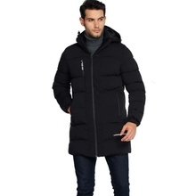 Men's cotton coats are long in winter. Thickened extra size cotton padded jacket, leisure windbreak cap cotton jacket L-6XL