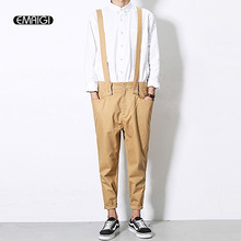 Overalls for Men Summer Autumn Male Casual Pants Bib Pants Male Fashion Hip-hop Harem Trousers Jumpsuit Q250