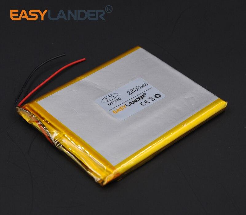 6x65x80mm 3 7V 2800mAh Rechargeable li Polymer font b Li ion b font font b Battery