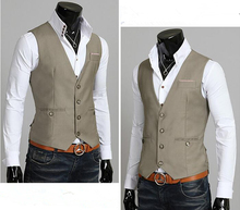 Custom Made Gray Mens Waistcoats Slim Fit Wedding Prom Dinner Suit Vests Men Gilet Best Man Vest chaleco hombre homem colete