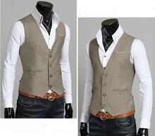 Custom Made Gray Mens Waistcoats Slim Fit Wedding Prom Dinner Suit Vests Men Gilet Best Man