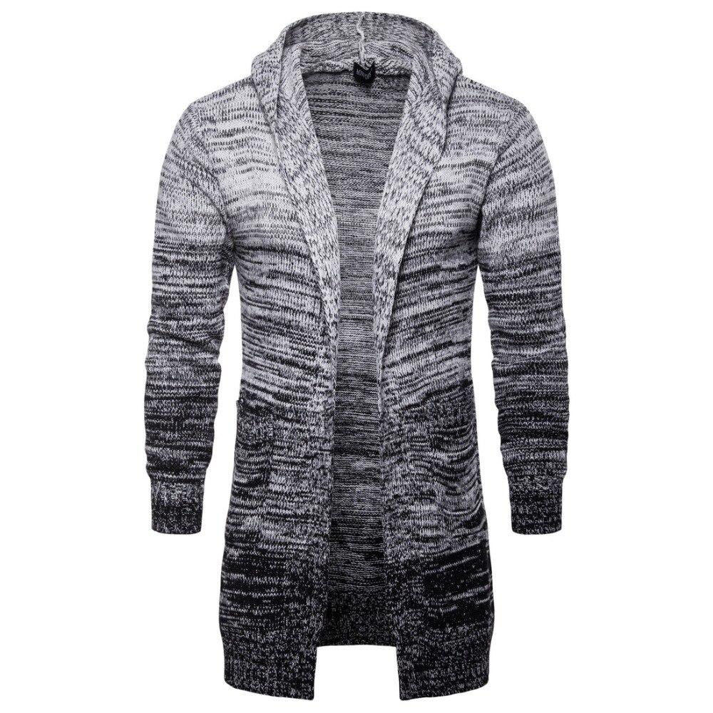 2018 Neue Herbst Winter Männer Warme Strickjacke Sweatercoat Beiläufige Lange Mans Pullover Verdicken Strickwaren Kleidung Streetwear Buy One Give One