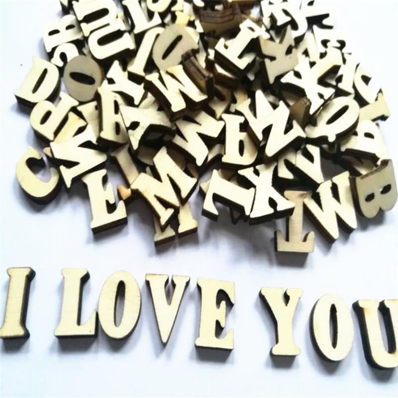 unids mixed letra del alfabeto az carta nmero de madera decoracin de madera natural artesana