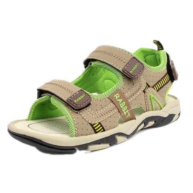 Пляж летом обувь для детей 2016 новых досуг детей пляжные сандалии пятна мягкое дно мальчик ребенок мальчик пляжные сандалии небуксующий 25 - 37