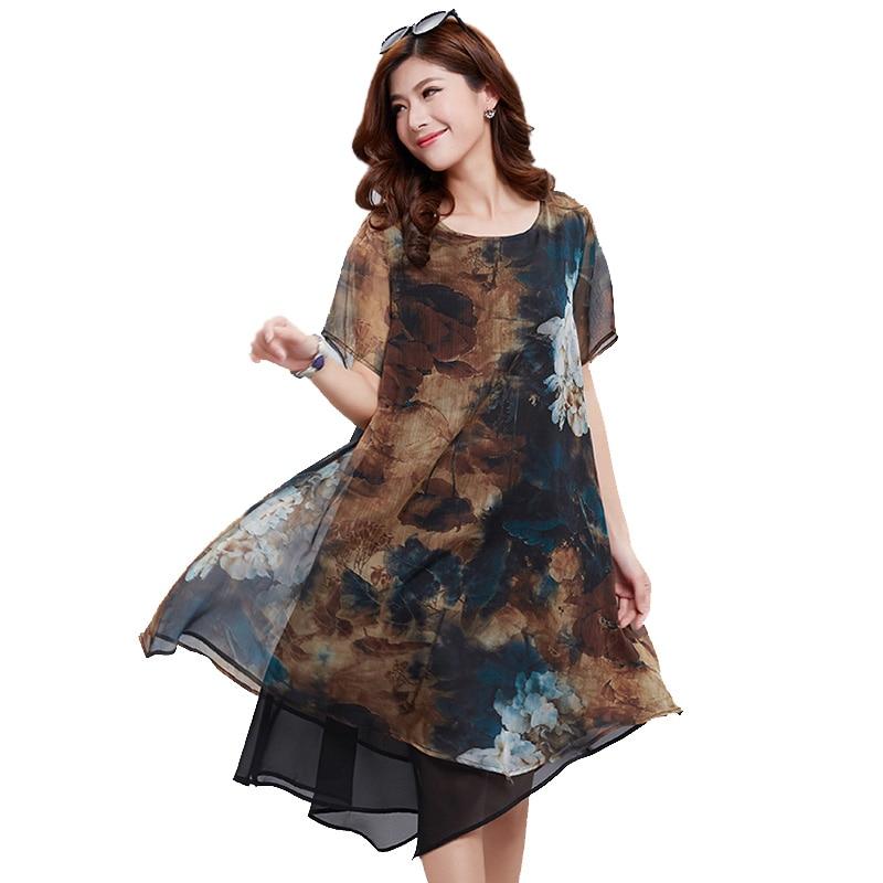 2018 plus size dress summer sexy print casual dress 3xl&4xl lace women dress beach dresses YI FENG WEI ER brand