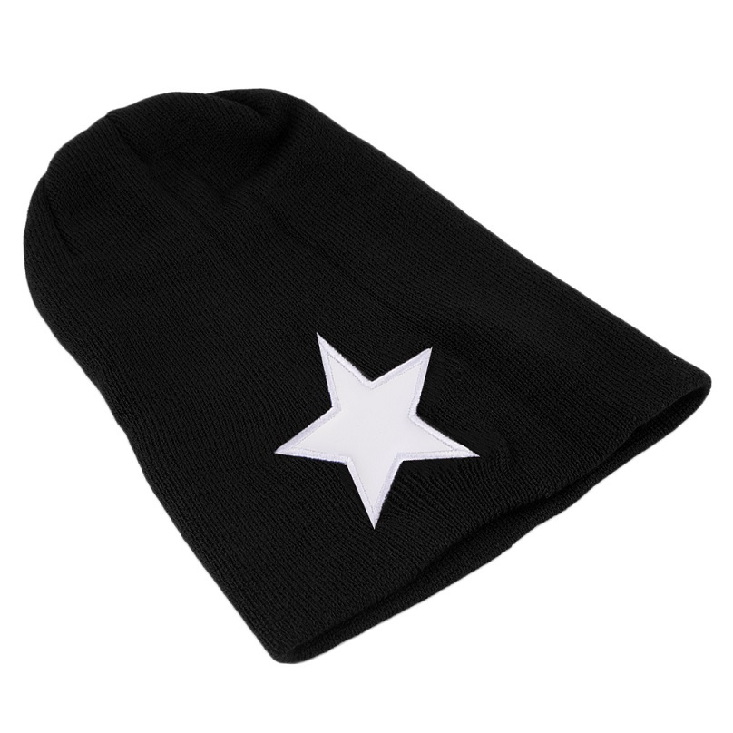 New Fashion Star Unisex Hip-Hop Warm Winter Knit Beanie Slouchy Cap Hat Black/Coffee/Beige/Dark Red Color Hot hot winter beanie knit crochet ski hat plicate baggy oversized slouch unisex cap