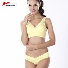 Women Cross Quick Dry Sports Bra Set Push Up Shockproof Top Sexy Underwear Inner