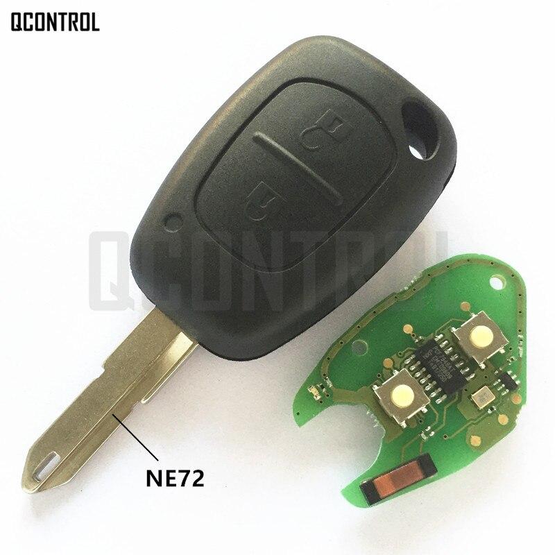 Qcontrol chave do carro remoto apto para renault vivaro movano mestre de tráfego kangoo pcf7946 chip 433 mhz ne72 lâmina