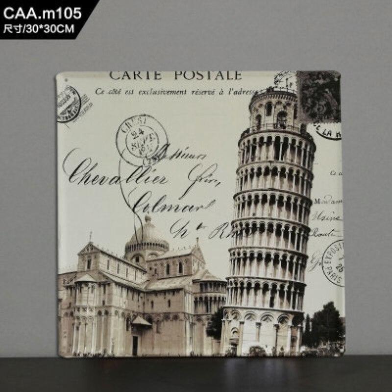 Decoration Carte Postale.Carte Postale Large Vintage Metal Painting Tin Signs Bar Ktv