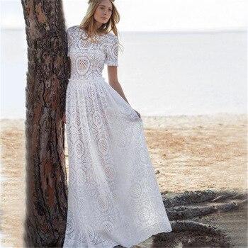 14b05220e Las mujeres playa vestido largo Saida De Praia Feminino 2019 Maxi vestidos  para las mujeres
