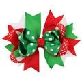 Enfeites de natal Bowknot Hairpin Cocar Hairpin Natal floco de neve Arco Grampo de Cabelo do bebê Frete Grátis