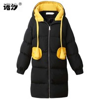 Pregnant Clothes MOM Winter Maternity Cotton Large Size Warm Coat Parkas Hooded Long Style Pregnant Clothing