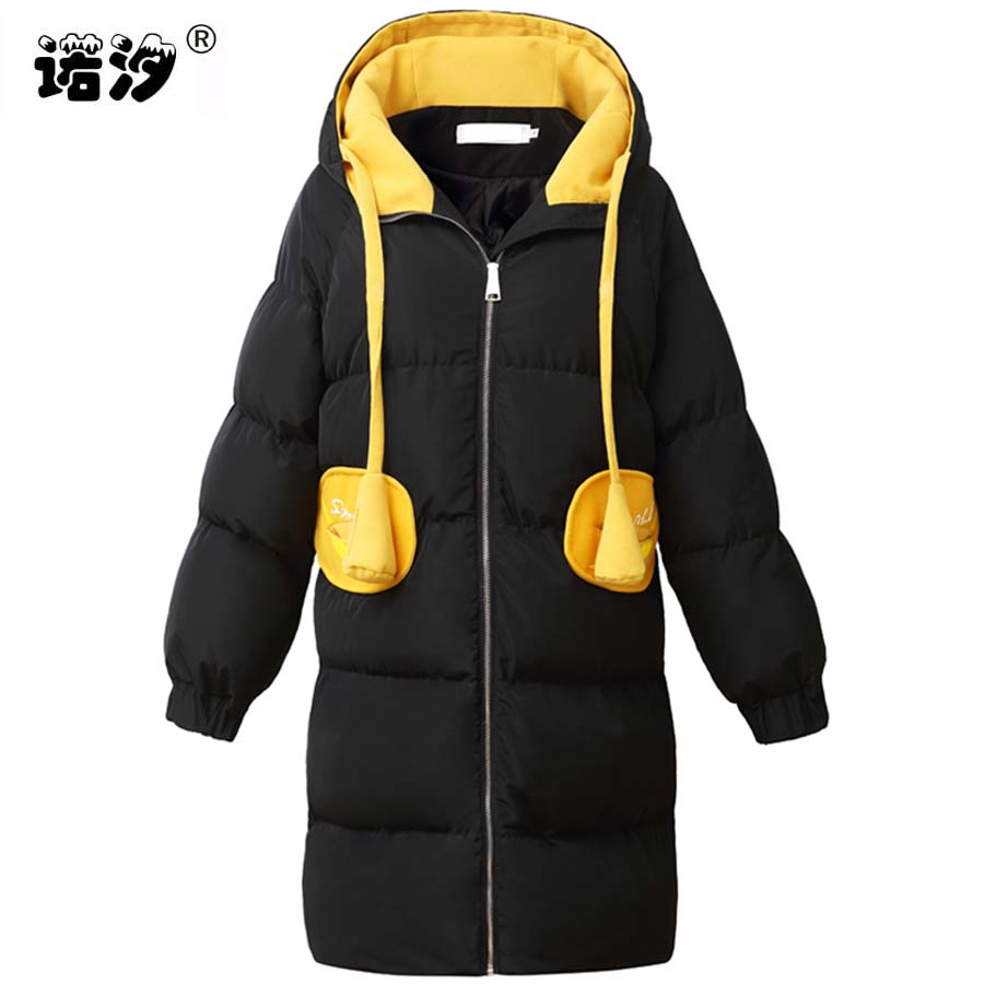 Pregnant clothes MOM winter Maternity cotton large size warm Coat parkas Hooded Long Style Pregnant clothing mother outwear geckoistail 2017 new fashional women jacket thick hooded outwear medium long style warm winter coat women plus size parkas