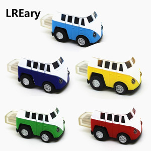 Cute Model Car T1 RV Transporter Bus Pen drive Mini Truck Van USB Flash Drive 4G 8G 16G 32G 64G Memory Stick Pendrive U Disk(China)