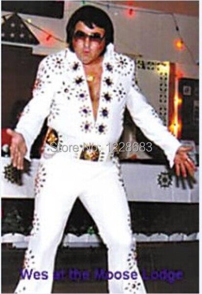 Hochwertige Kunden Gemacht Elvis Presley Cosplay Sänger Ballroom Dance Kostüm Set Elvis Presley Männer Halloween Cosplay Kostüm-in Film- & TV-Kostüme aus Neuheiten und Spezialanwendung bei AliExpress - 11.11_Doppel-11Tag der Singles 1