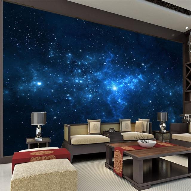Blue Galaxy Wall Mural Beautiful NightSky photo wallpaper ...