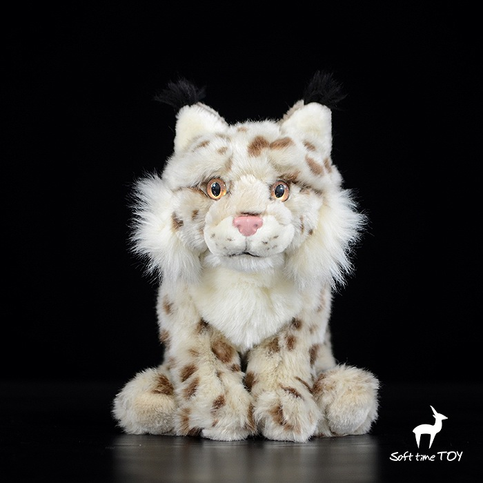 Plush Doll Children'S Toy  Gifts  Simulation  Wild Animals  Toys Eurasian Lynx Dolls Gift stuffed wild doll toys african wolf spotted hyenas simulation animals plush toy children dolls rare