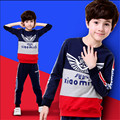 Children's clothing 6 male child spring set 2016 8 9 child sweatshirt twinset 10 sports 7 spring and autumn 5 - 11