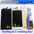 """Alta qualidade novo toque digitador da tela + display lcd de substituição para lenovo p70 p70-t p70t cell phone 5.0 """"1280*720 Preto Branco"""