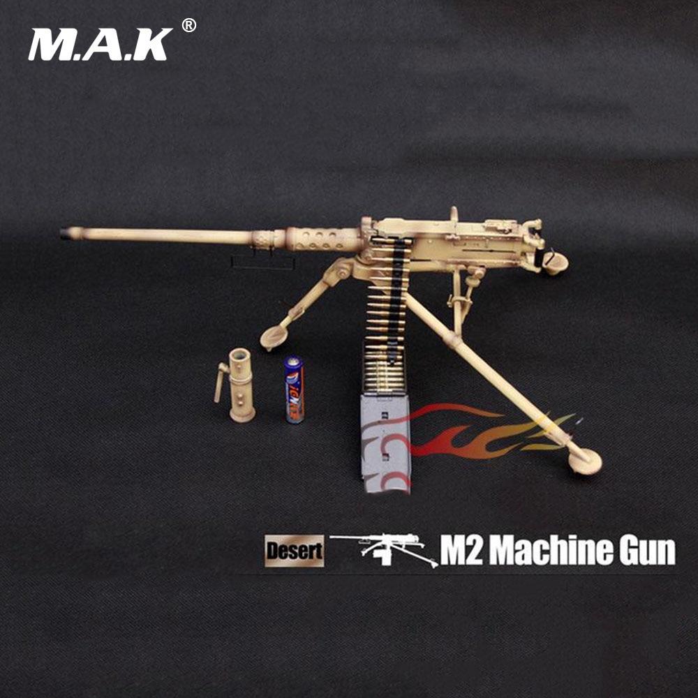 1:6 accessoires de poupée à l'échelle modèle de mitrailleuse de couleur du désert pour modèle de figurine d'action de soldat de 12 pouces