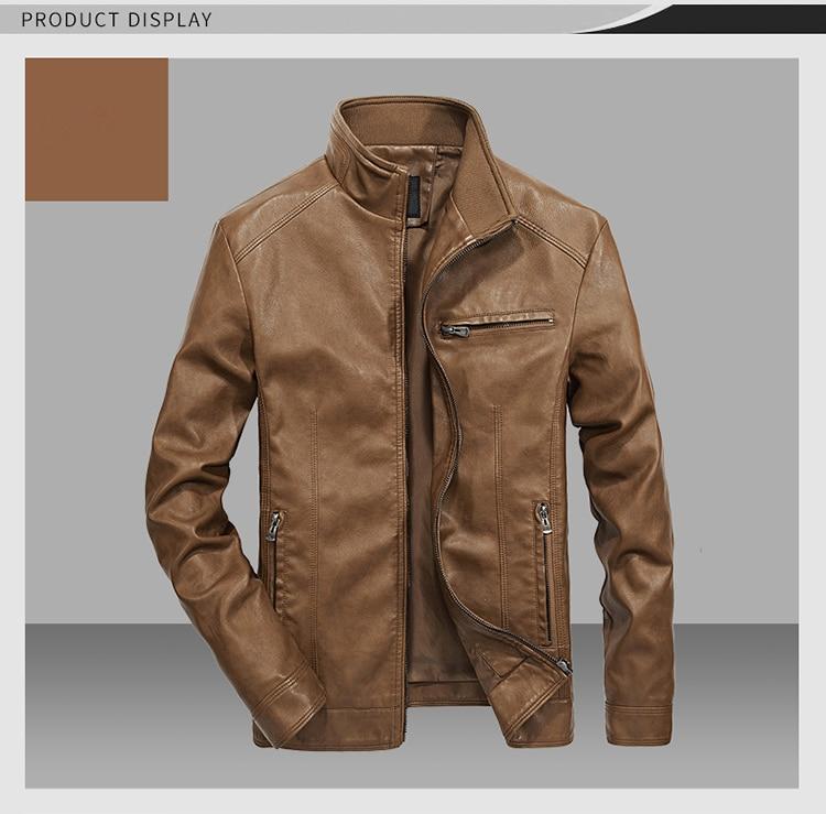 HTB14743B3KTBuNkSne1q6yJoXXao DAVYDAISY 2019 High Quality PU Leather Jackets Men Autumn Solid Stand Collar Fashion Men Jacket Jaqueta Masculina 5XL DCT-245