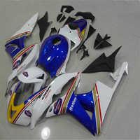 Dor set Custom Fairing kit for injection mold hot sale white blue CBR600RR 07 08 CBR 600RR 2007 2008 cbr600rr ABS Fairing