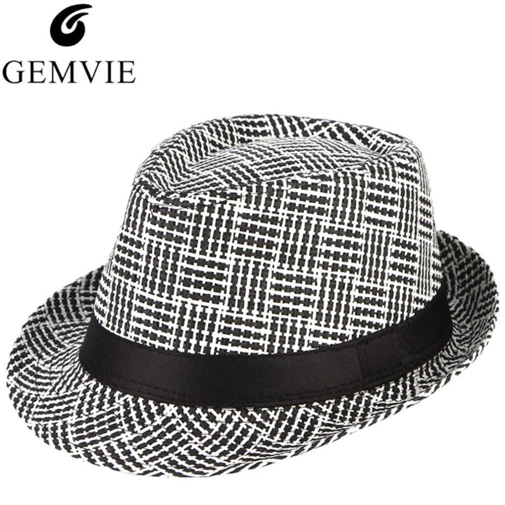 Detail Feedback Questions about Vintage Men Summer Hat Handmade Weaved  Straw Hats Plaid Jazz Cap Male Beach Hat Sun Cap on Aliexpress.com  eeced36e591c