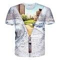 Новый Город 3D Футболки для Мужчин 2016 Мужская Мода Хип-Хоп отпечатано Slim Fit Футболка Мужчины Марка Футболка С Коротким Рукавом Футболка Homme