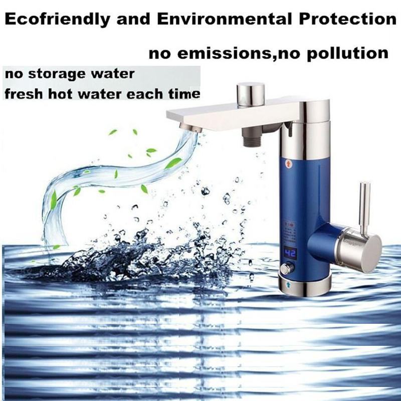 3.5kW water heater Instantaneous hot electric tankless water boiler for bathroom shower kitchen sink side bottom inlet Asia Plug