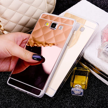Luxury Fashion Rose Gold Plating Mirror Case Soft Back Cover For Samsung Galaxy S3 S4 S5 S6 S7 Edge A3 A5 2016  j1 J120F J5 J7