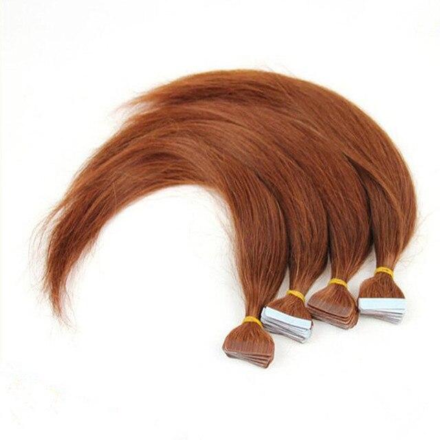 30 Light Auburn Cheap Tape In Hair Extensions Human Hair Extensions