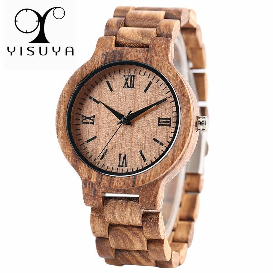 Yisuya Natur Holz Bambus Uhr Manner Handgemachte Full Holz Kreative