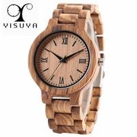 YISUYA Nature Wood Bamboo Watch Men Handmade Full Wooden Creative Women Watches 2017 New Fashion Quartz