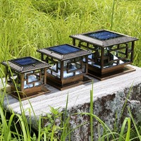 LED lighting source long working time solar pillar light D25*H22cm Garden Sets Free shipping dropshipping