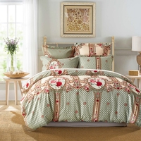 100% Algodón Textiles Para El Hogar Hojas Floral Sábana Funda de Colchón Colcha Twin Queen Full King Bedding Sets