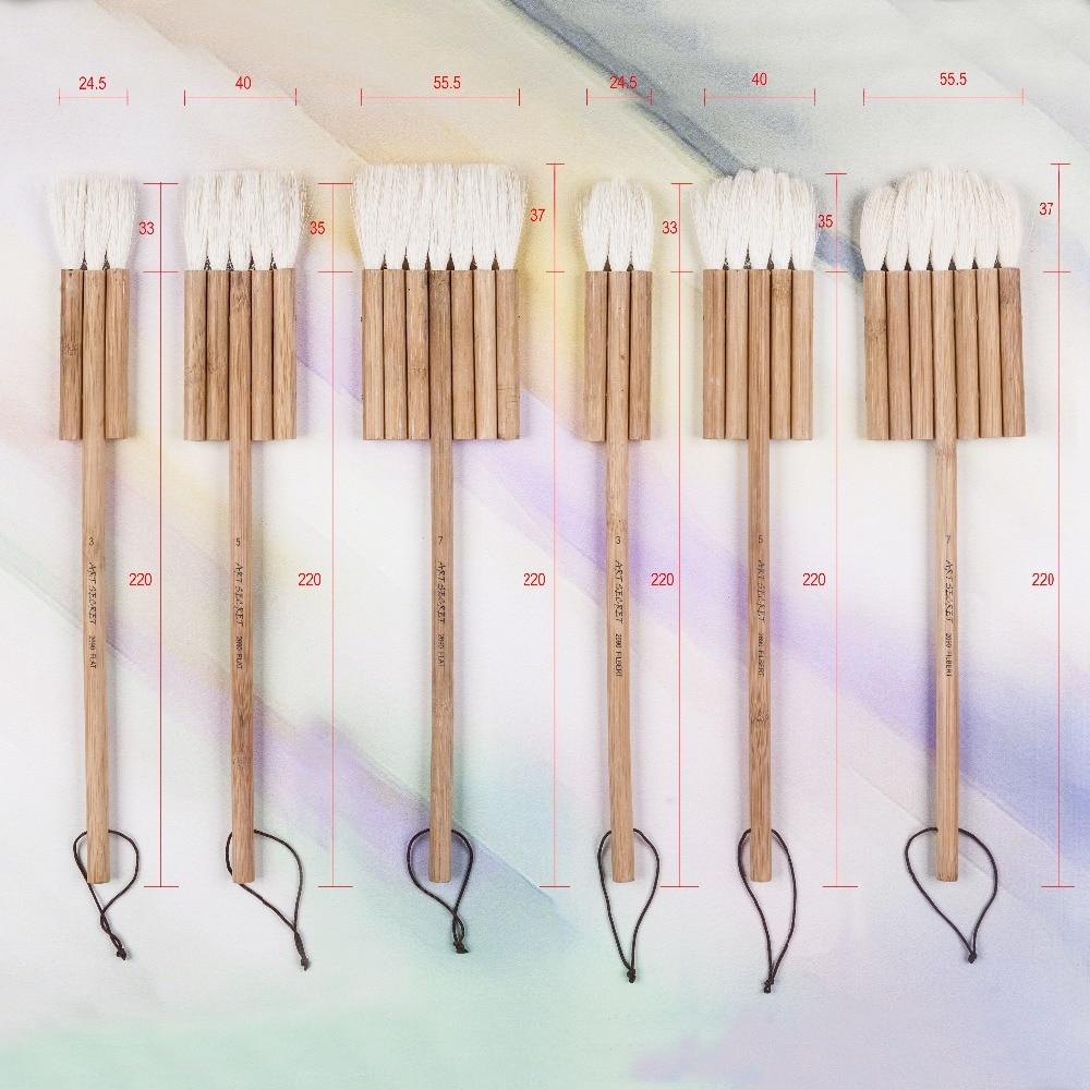 Углеродистая бамбуковая ручка из козьей шерсти 2690 3 шт./компл., товары для рукоделия, акварельные кисти для рисования