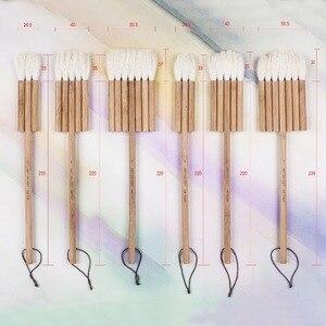 Image 1 - 2690 3PCS/set goat hair carbonated bamboo handle watercolor artist art supplies paint brush