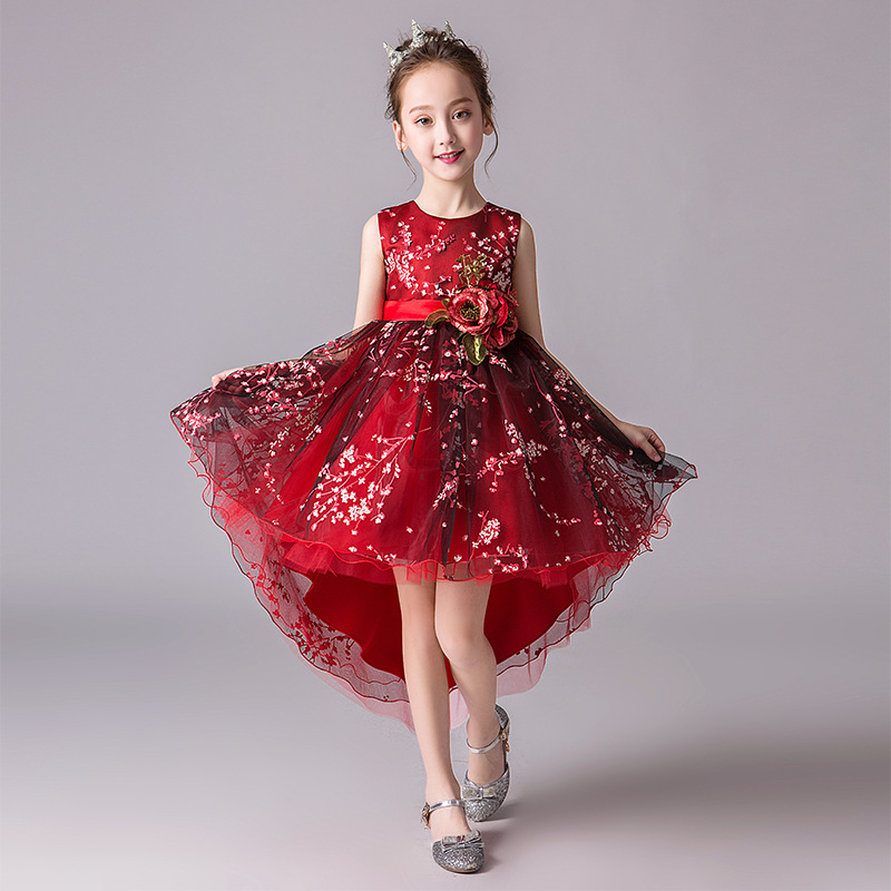 it's YiiYa Kid Party Communion   Dress   PrintingTulle Sweety Princess   Girl     Dress   O-Neck   Flower     Girl     Dress   for Wedding 2019 BX2829