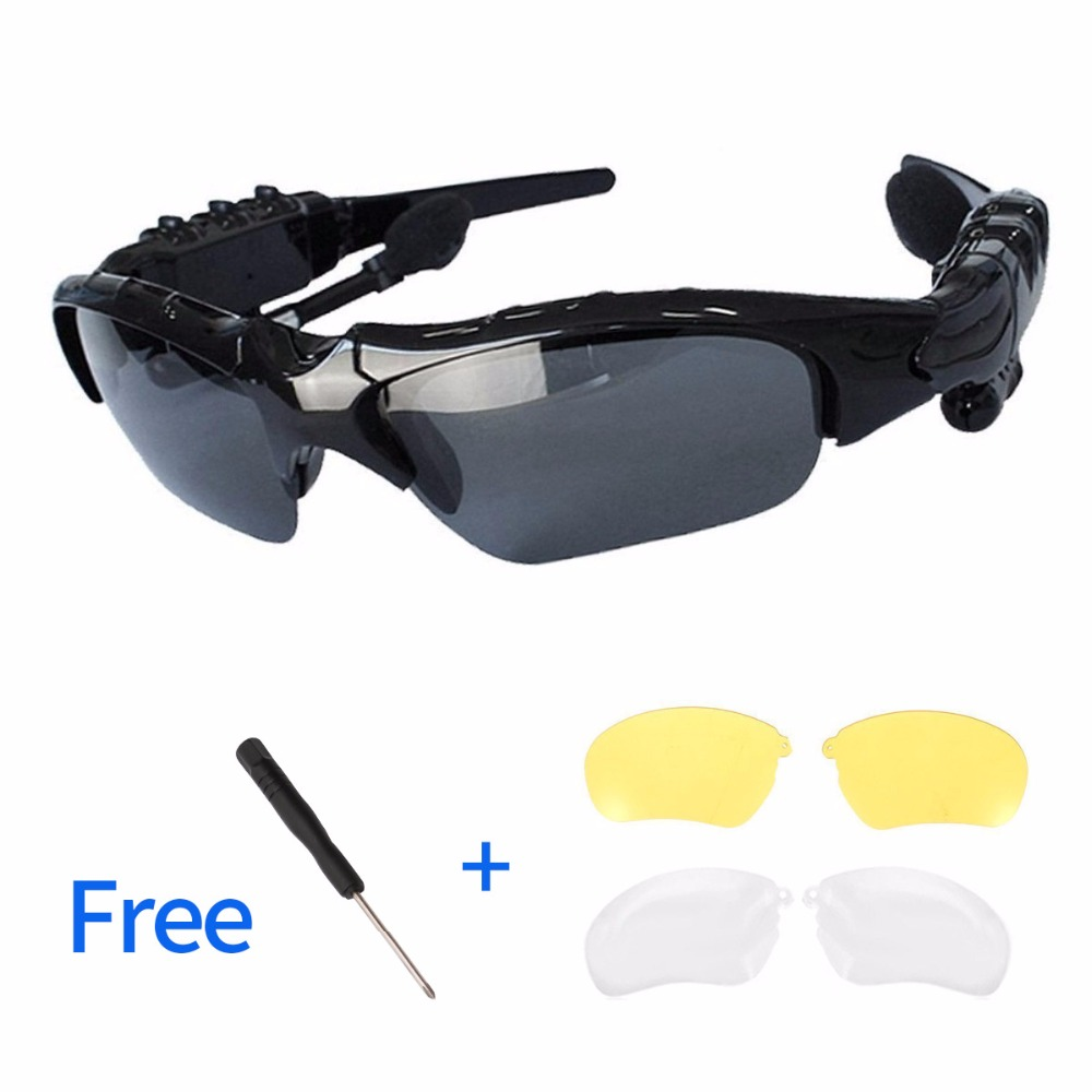 Anskp Smart Glasses Bluetooth Sunglasses Wireless Stereo Earphones Outdoor Glasses Earbuds Music with Mic for iPhone Samsung smart bluetooth sunglasses headset hands free mic headphone for smart phone outdoor sport stereo music sun glasses headphones