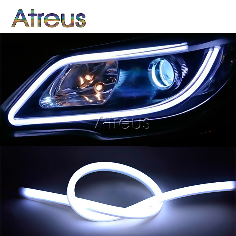 60CM Flexible <font><b>LED</b></font> Daytime Running Light DRL Lamp For <font><b>Renault</b></font> <font><b>Duster</b></font> Megane 2 3 Logan Captur Mazda 3 6 CX-5 CX-7 Seat Leon Ibiza image