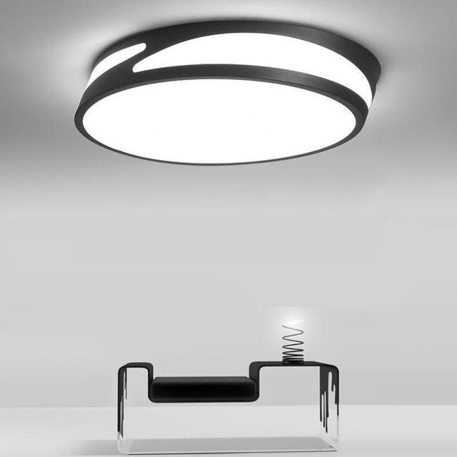 Black White Led Work Light Luminaire Surface Cafe Bar Led Strip Lamparas Daily Lamp Ceiling Lamps Dining Room Led Ceiling Lights