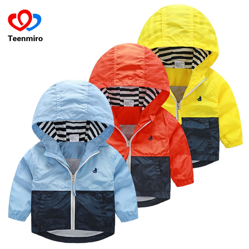 Kids Toddler Boys Jacket Coat Spring Autumn Hooded Windbreaker For Children Outerwear Minnie Baby Clothes Infant Blazer Clothing(China)