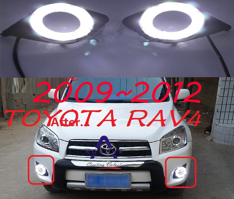car-styling,2009~2012 RAV4 daytime light,led,Free ship!2pcs/set,RAV4 fog light;car-covers,RAV4,RAV 4 car styling rav4 taillight 2009 2012 led free ship 4pcs set rav4 fog light car covers chrome car detector rav4 tail lamp rav 4
