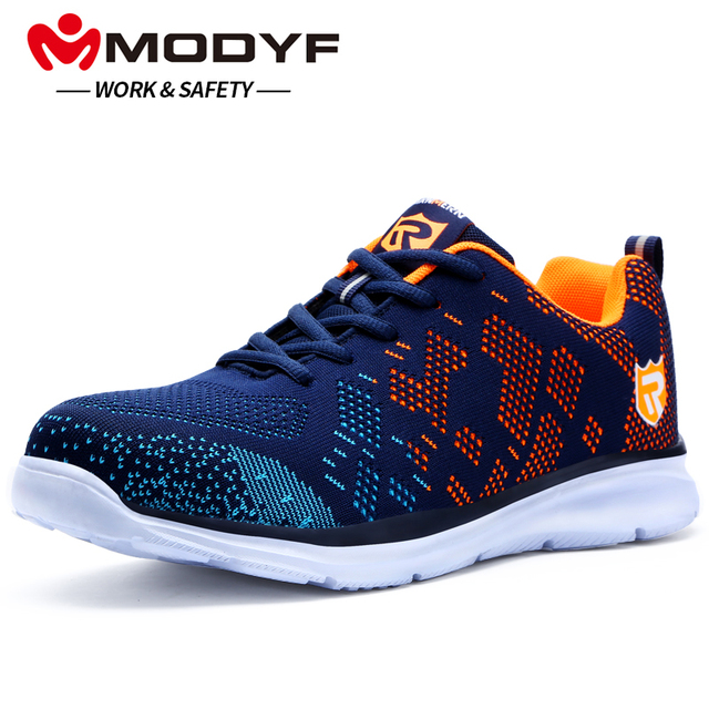 quality design 72571 8cfa6 MODYF Men Safety Shoes Steel Toe Work Shoes Ultra Lightweight Breathable  Sneaker Casual Footwear